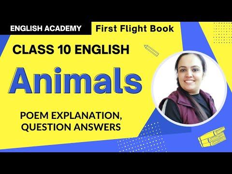 Animals Class 10 CBSE English Poem Summary, Explanation, Question