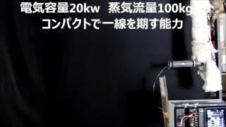 過熱蒸気発生装置 GE 100の性能2 (コメント入) 野村技工㈱