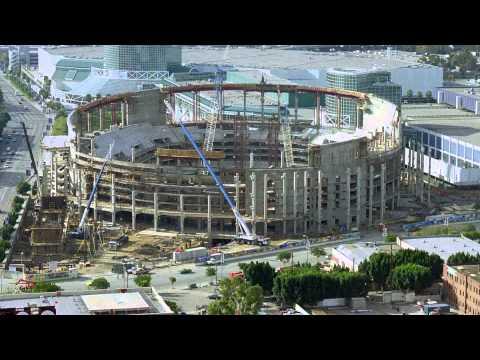 STAPLES Center Construction Timelapse