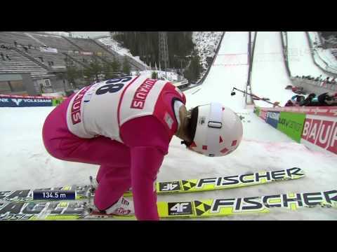 Kamil Stoch - 134,5 m - Lahti 2014 - II seria, WYGRANA [HD]