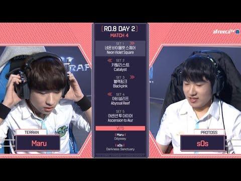[2018 GSL Season 1]Code S Ro.8 Day2 Match2 Maru vs sOs