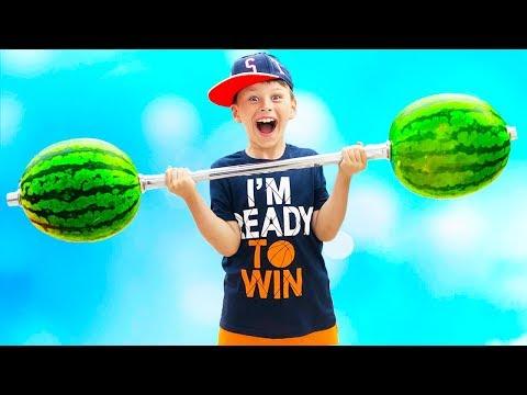 ALİ KARPUZDAN DAMBIL YAPTI Ali pretend playIing with Watermelon and made Slime for kids Funny video
