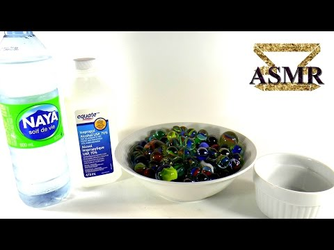 ASMR - Cleaning Marbles - Water, glass and relaxation