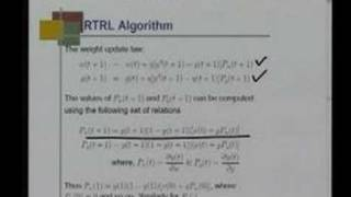 Mod 1 Lec 10 Recurrent networks Real time recurrent learning