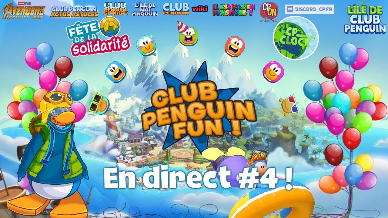 Club Penguin Fun En Direct N4 Youtube