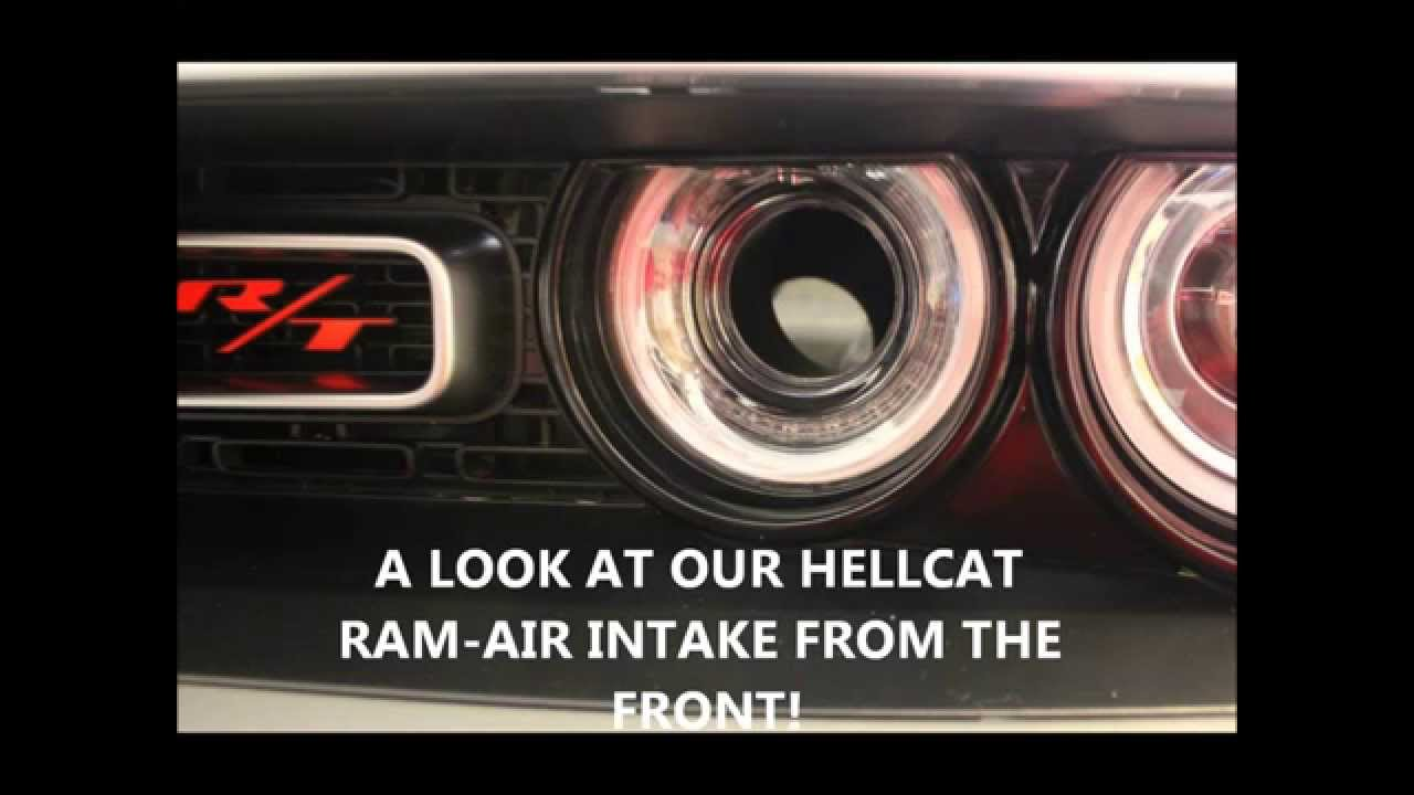 Dodge Challenger Conversion >> 2015 DODGE CHALLENGER HELLCAT RAM-AIR INTAKE CONVERSION - SIMPLIFIED - YouTube