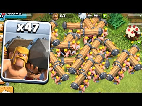 БОЕВОЙ ТАРАН В CLASH OF CLANS! ФАН АТАКИ ТАРАНАМИ CLASH OF CLANS!