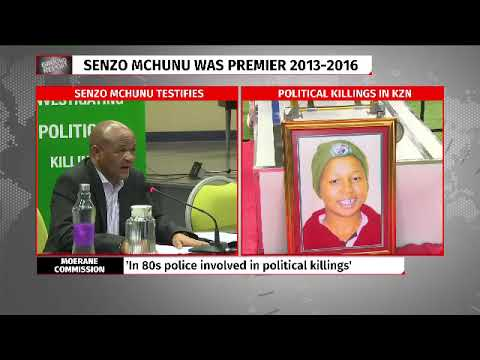 Senzo Mchunu appears before Moreane commission