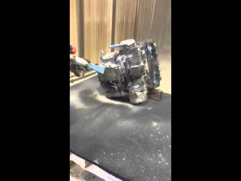 Soda Blast Motorcycle Engine