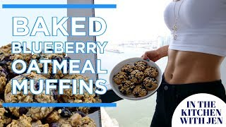HEALTHY BAKED BLUEBERRY OATMEAL MUFFIN RECIPE | Jen Selter