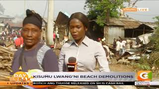 Demolitions underway at Lwang'ni beach in Kisumu