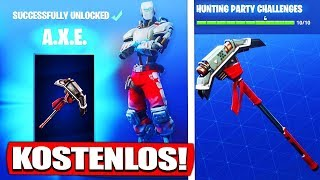 FREE Z.I.E.L Skin (Green) & A.X.E. Pickaxe! - Fortnite Battle Royale