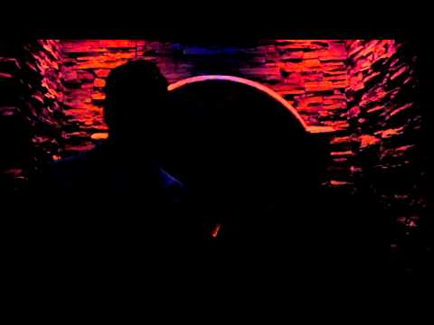 Jeremy and Darlene singing karaoke.
