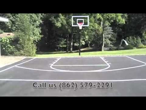 Driveway Basketball Court Line Painting Youtube