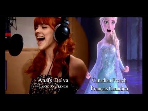 Let it go Multilanguage - Behind the mic [Recording the song]