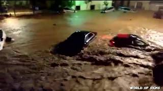 Heavy flooding in St. Llorenc Catalonia Spain  9 Oct. 2018