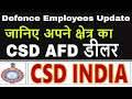 CSD-AFD Dealer Contact Details_Defence Employees latest News_Govt Employees News
