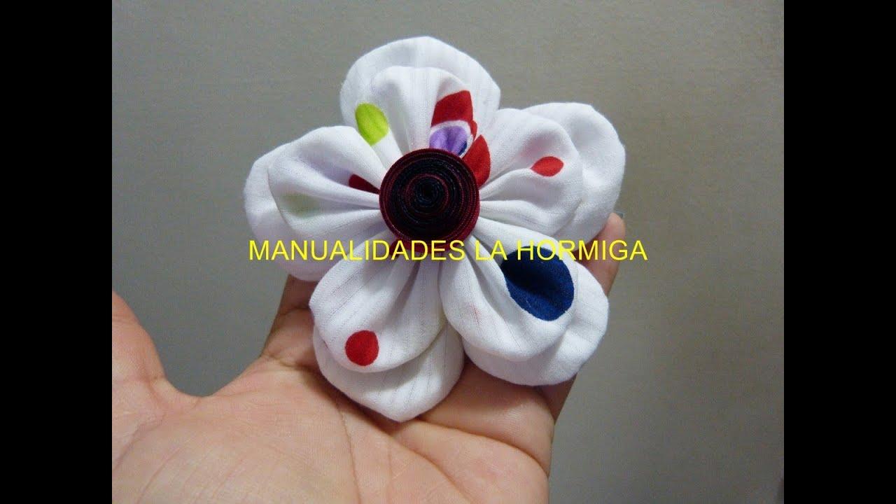 Lindas y faciles flores de tela para el cabello cute and for Manualidades con tela paso a paso