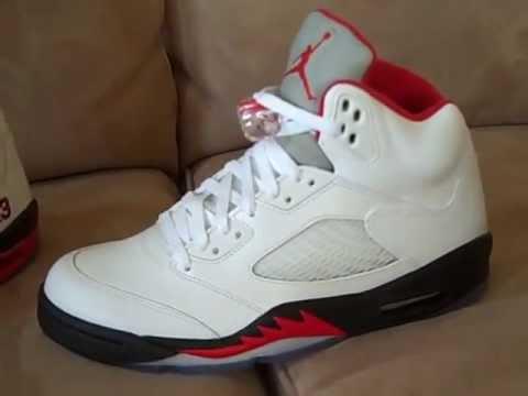 Air Jordan 5 (V) Retro - Fire Red + 5 Collection