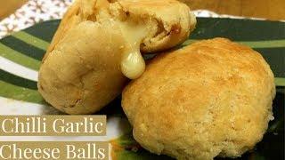 CHILLI GARLIC CHEESE BALLS | BAKED | MOU SEN