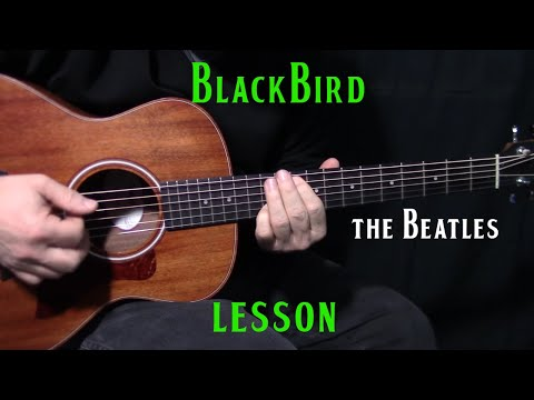 how to play Blackbird by The Beatles_Paul McCartney - acoustic guitar lesson