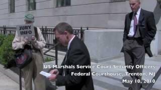 Trenton Marshals Interrogate Jury Rights Advocates; Hundreds of Pamphlets Distributed