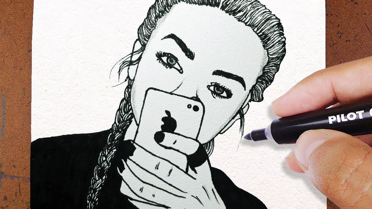 Como Desenhar Uma Garota Tumblr Vamos Desenhar Youtube