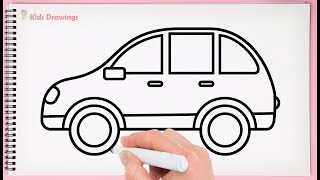 How to Draw Car Easy for kids Learn Drawing a Car Very Easy and Step by Step
