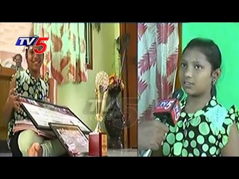 11Years Old Sravya Selected For National Astronomy Olympiad | Khammam | TV5 News