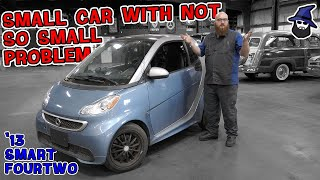 A small car with a not so small problem. CAR WIZARD reviews a 2013 Smart FourTwo