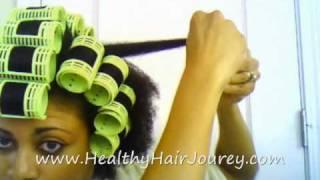 Roller Setting Natural Hair