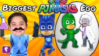 World's Biggest PJ MASKS Surprise Egg! Hello Neighbor Steals Egg + Toys HobbyKidsTV