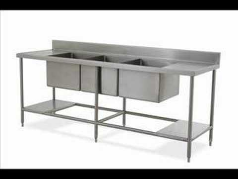 muebles acero inoxidable cocinas industriales - YouTube