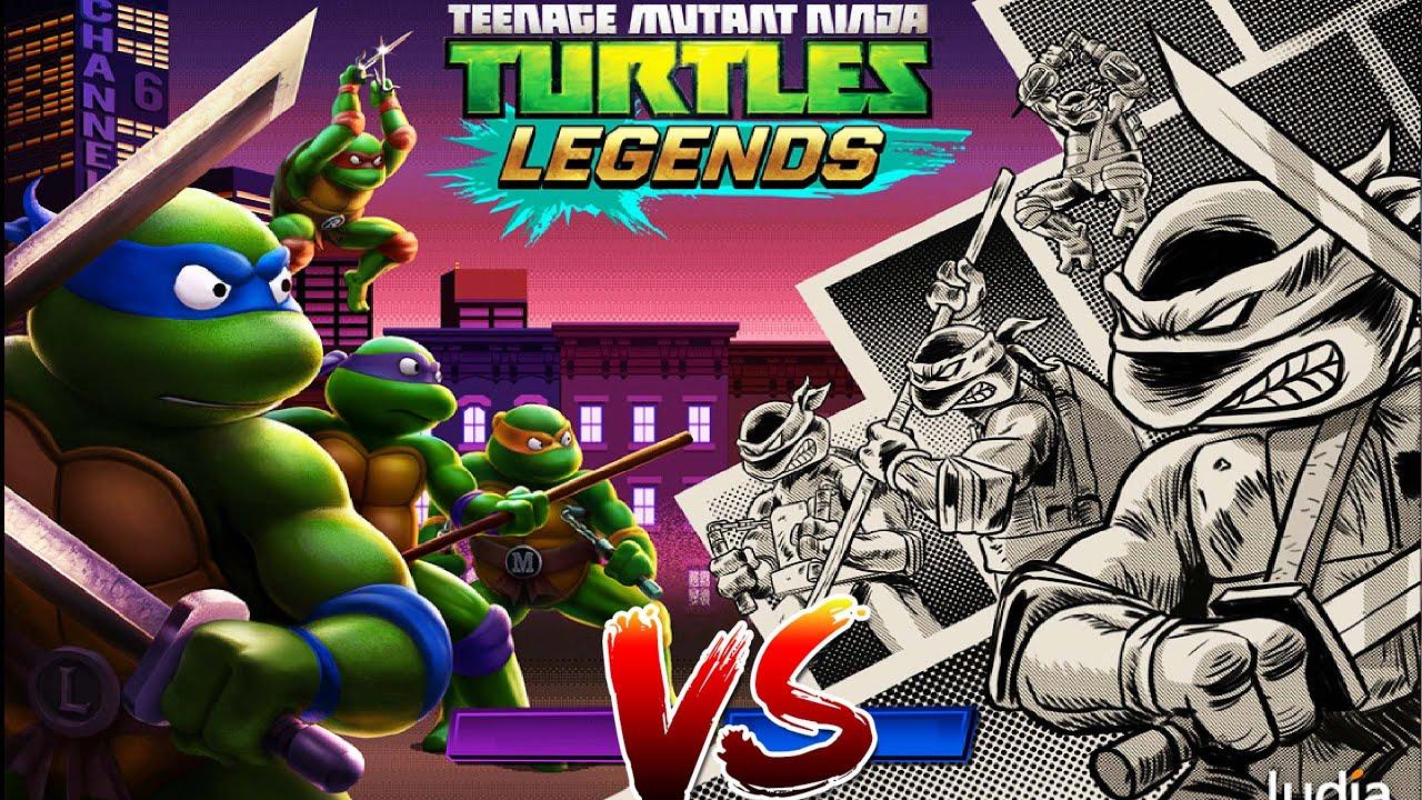 Черепашки-Ниндзя Легенды (TMNT Legends) испытание - СЦЕНЫ НАСИЛИЯ - мобильная видео игра на андроид