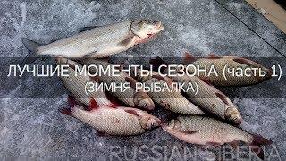 Зимняя рыбалка 2018/ Лучшие моменты сезона ч.1/ Рыбалка на Иртыше