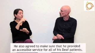 Thumbnail for Deaf patient denied access to BSL interpreter at GP practice