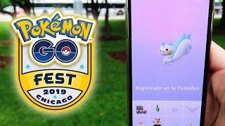 REGISTRANDO PACHIRISU y muchos SHINY! MEJORES CAPTURAS del Pokémon GO Fest 2019! [Keibron]