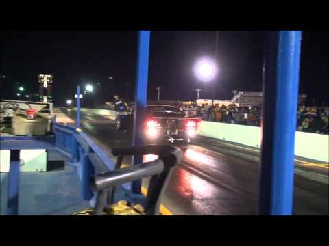 Doc from Street Outlaws making a rocketship pass at a big tire race