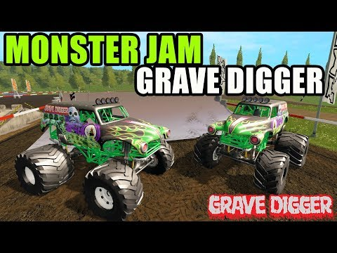 FARMING SIMULATOR 2017 | MONSTER JAM FEST WITH THE GOOD OLE GRAVE DIGGER | MULTIPLAYER