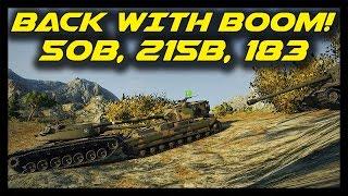 ► World of Tanks: I'm Back, With a Boom! - AMX 50B, FV215b, FV215b 183 Live Gameplay