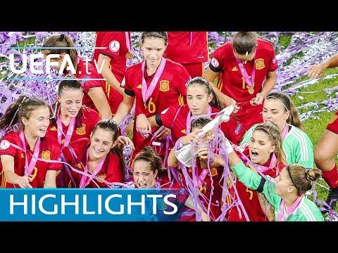 2017 UEFA Women's Under-19 final highlights - Spain v France