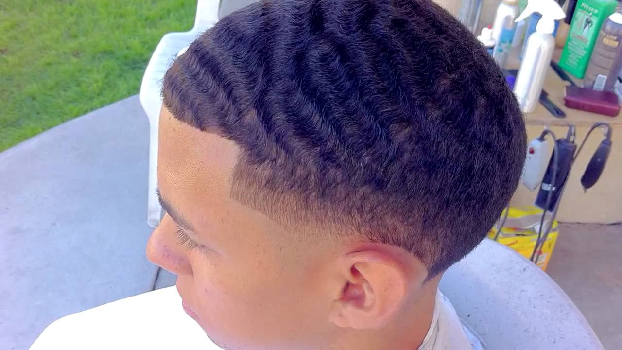 Wave Taper Fade Haircut Youtube