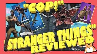 STRANGER THINGS Skins in FORTNITE *NEW* DEMOGORGON + CHIEF HOPPER + VINES Wrap : Reaction & Review