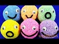 Learn Colors with Play Foam Balls Happy Smiley Face Kiner Surprise Eggs Powerpuff Girls Fun for Kids