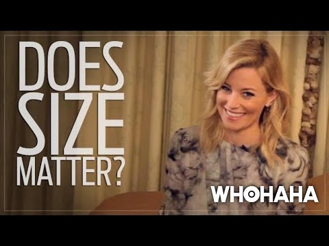Really Important Questions with Elizabeth Banks: Does Size Matter?