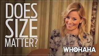 Video Really Important Questions with Elizabeth Banks: Does Size Matter? download MP3, 3GP, MP4, WEBM, AVI, FLV Agustus 2018