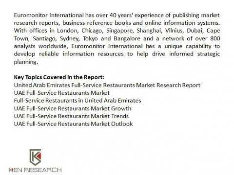 UAE Full-Service Restaurants Market Trends, UAE Full-Service Restaurants Industry Research