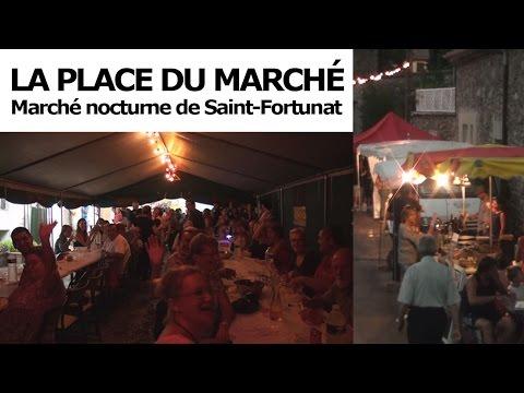 Marché nocturne à Saint Fortunat en Ardèche