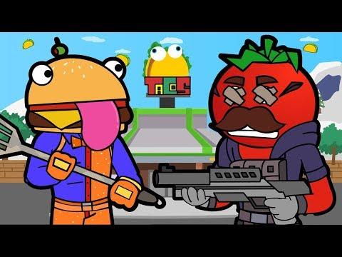 GREASY GROVE TACO TIME | Tomato & Burger (Fortnite Animation)