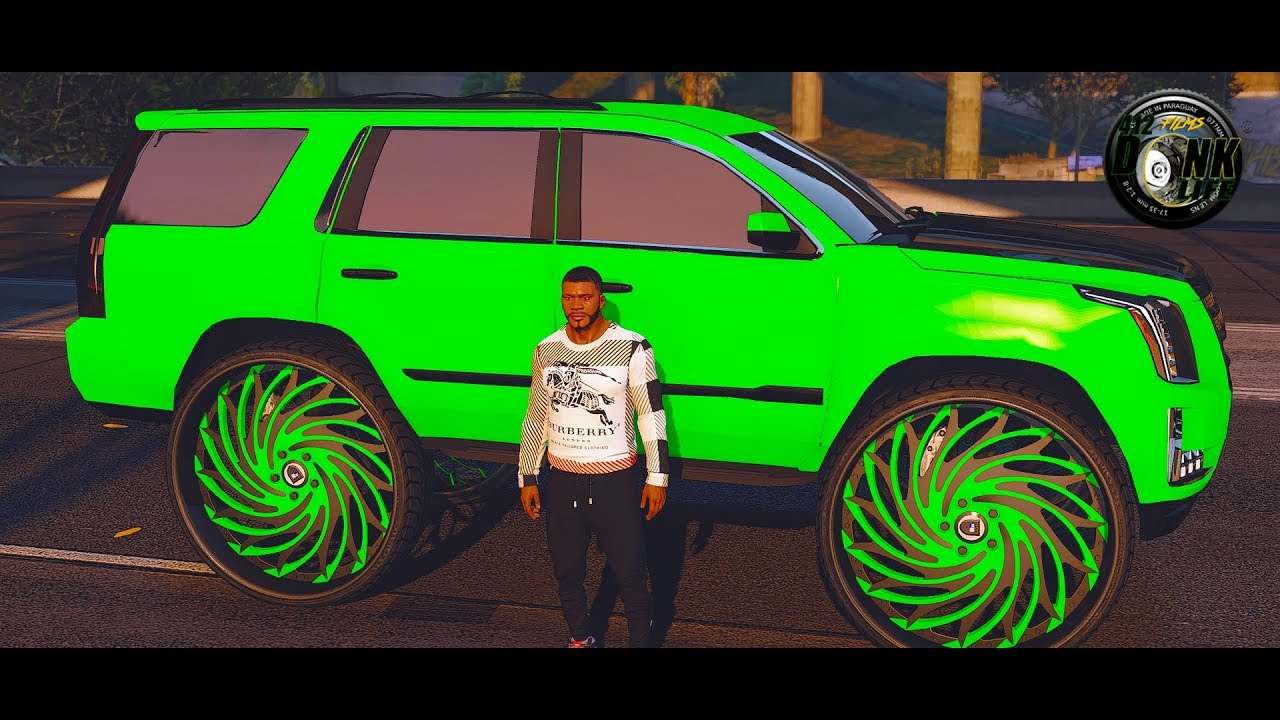 GTA 5 Donks And Outrageous Whips| Cadillac Escalade on 34s ...
